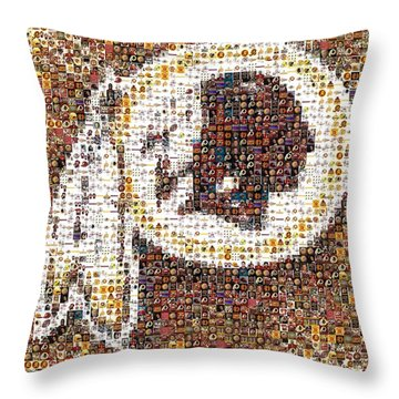 Redskins Mosaic Throw Pillow by Paul Van Scott