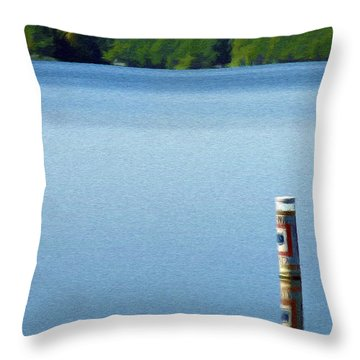 Reflected Warning Throw Pillow by Jeff Kolker