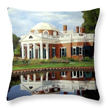 Reflecting On Jefferson Throw Pillow by J Luis Lozano