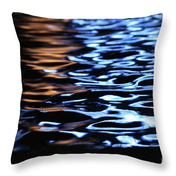 Reflection In Fountain Throw Pillow by Karol Livote
