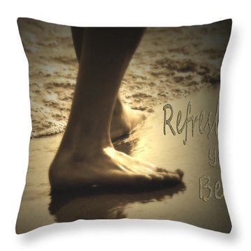 Refresh Your Being Spa Series Throw Pillow by Cathy  Beharriell