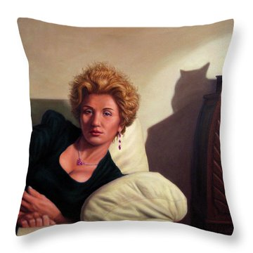 Repose Throw Pillow by James W Johnson