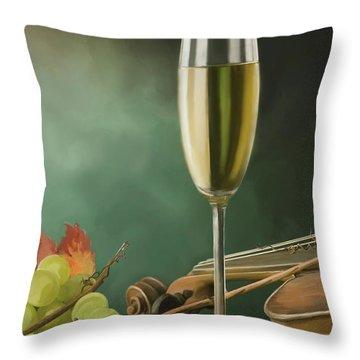 Restaurant Menu Paintings Throw Pillow by Michael Greenaway