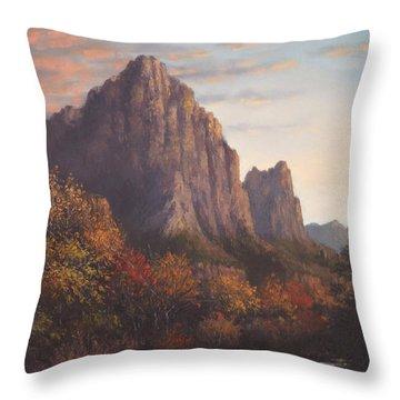 Return To Zion Throw Pillow by Sean Conlon