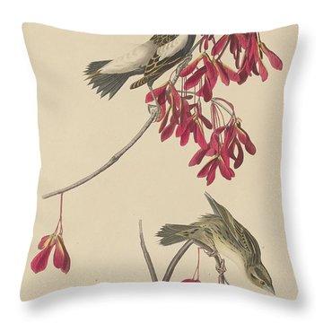 Rice Bunting Throw Pillow by John James Audubon