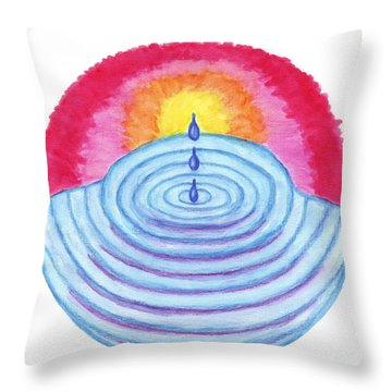 Ripples Of Change Throw Pillow by Wendy Hawkins