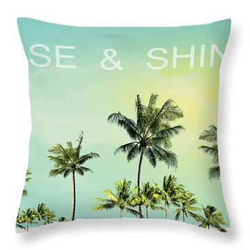 Rise And  Shine Throw Pillow by Mark Ashkenazi