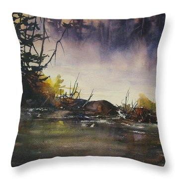 Rising Mist Throw Pillow by Madelaine Alter
