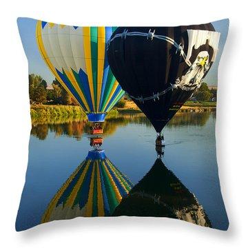 River Dance Throw Pillow by Mike  Dawson