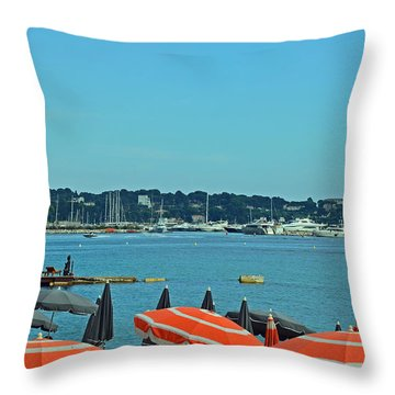 Riviera Style Throw Pillow by Corinne Rhode
