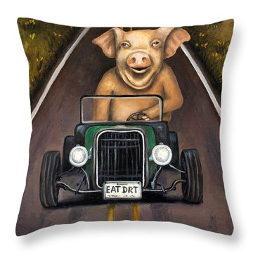Road Hog Throw Pillow by Leah Saulnier The Painting Maniac