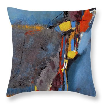 Road To Damascus Throw Pillow by Ruth Palmer