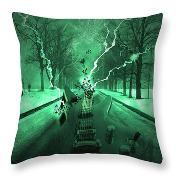 Road Trip Effects  Throw Pillow by Cathy  Beharriell