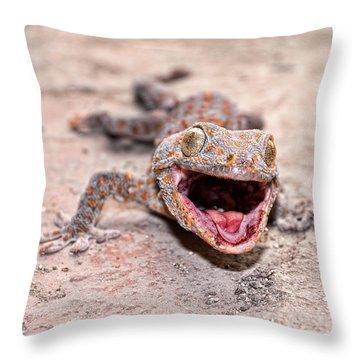 Roar Throw Pillow by Joerg Lingnau