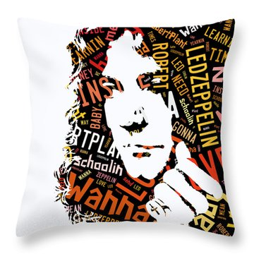 Robert Plant Whole Lotta Love Throw Pillow by Marvin Blaine