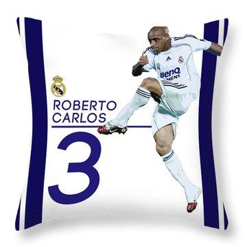 Roberto Carlos Throw Pillow by Semih Yurdabak