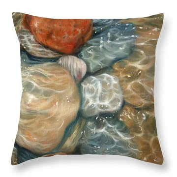 Rockpool Throw Pillow by David Stribbling