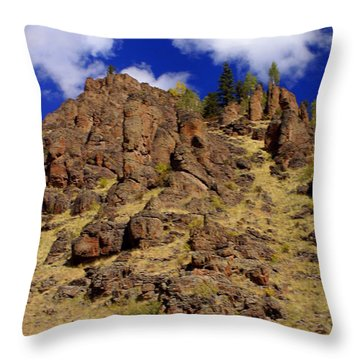 Rocky Butte Throw Pillow by Marty Koch