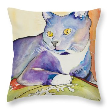 Rocky Throw Pillow by Pat Saunders-White