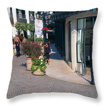 Rodeo Drive, Beverly Hills, California Throw Pillow by Panoramic Images