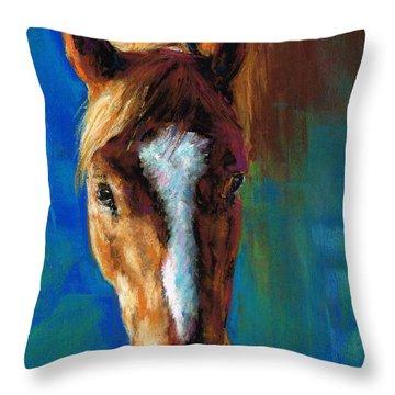 Rojo Throw Pillow by Frances Marino