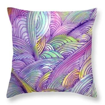 Rolling Patterns In Pastel Throw Pillow by Wayne Potrafka