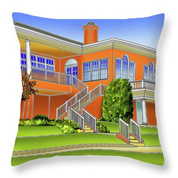 Rolling Road Golf Club Throw Pillow by Stephen Younts