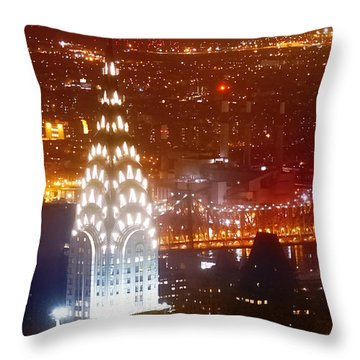 Romantic Manhattan Throw Pillow by Az Jackson