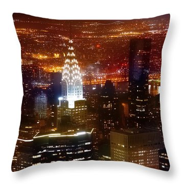 Romantic Skyline Throw Pillow by Az Jackson