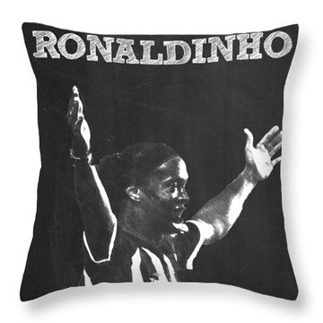 Ronaldinho Throw Pillow by Semih Yurdabak