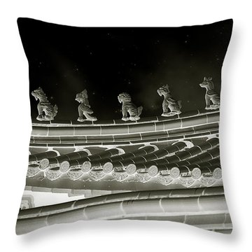 Roof National Palace Museum Taiwan City - Taipei  Throw Pillow by Christine Till