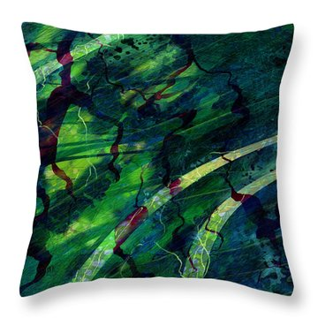 Root Canal Throw Pillow by Rachel Christine Nowicki