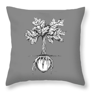 Roots Of The Heart Throw Pillow by Karen Sirard