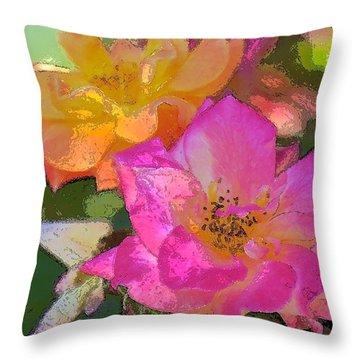 Rose 114 Throw Pillow by Pamela Cooper
