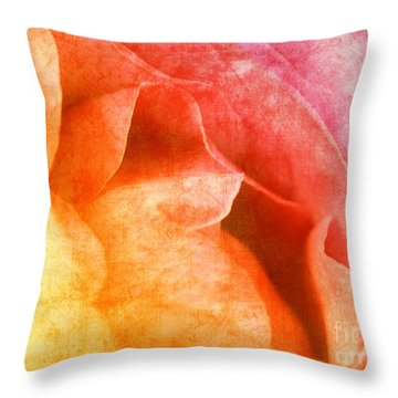 Rose  Throw Pillow by Angela Doelling AD DESIGN Photo and PhotoArt