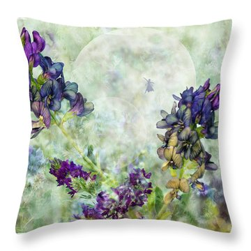 Rose Knows Throw Pillow by Ed Hall