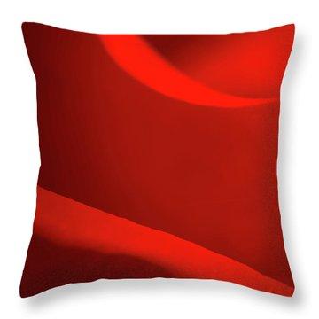 Rose Macro Throw Pillow by Wim Lanclus