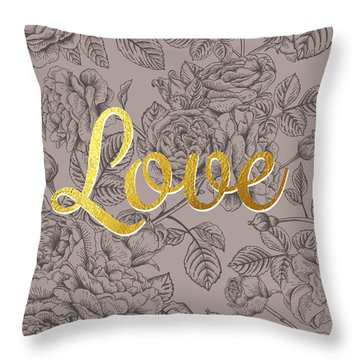 Roses For Love Throw Pillow by BONB Creative