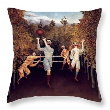 Rousseau: Football, 1908 Throw Pillow by Granger