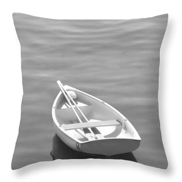 Row Boat Throw Pillow by Mike McGlothlen