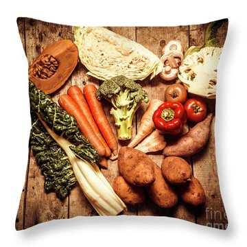 Rustic Style Country Vegetables Throw Pillow by Jorgo Photography - Wall Art Gallery