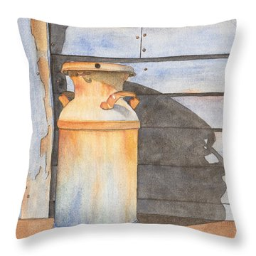 Rusty Milk Throw Pillow by Ken Powers