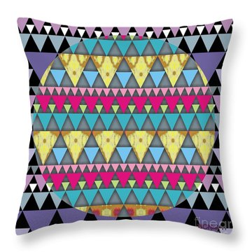S-pyramids 1 Throw Pillow by Walter Oliver Neal