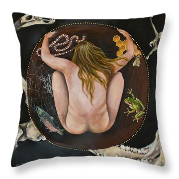 Sacred Circle 3 Throw Pillow by Sheri Howe