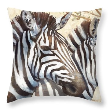 Safari Sunrise Throw Pillow by Mauro DeVereaux