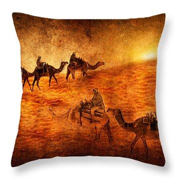Sahara Throw Pillow by Svetlana Sewell