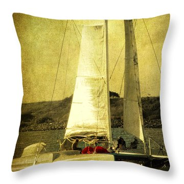 Sailing Away Throw Pillow by Susanne Van Hulst
