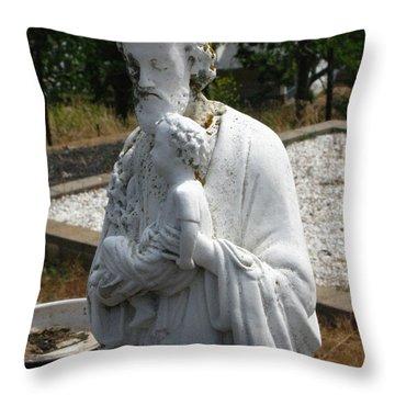 Saint Joseph Throw Pillow by Peter Piatt
