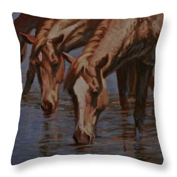 Salt River Redheads Throw Pillow by Mia DeLode