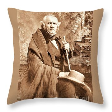 Sam Houston Throw Pillow by Pg Reproductions